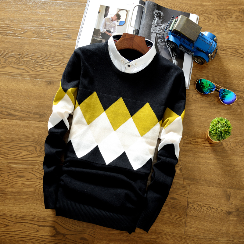 Autumn Men's Sweater Knitted S...