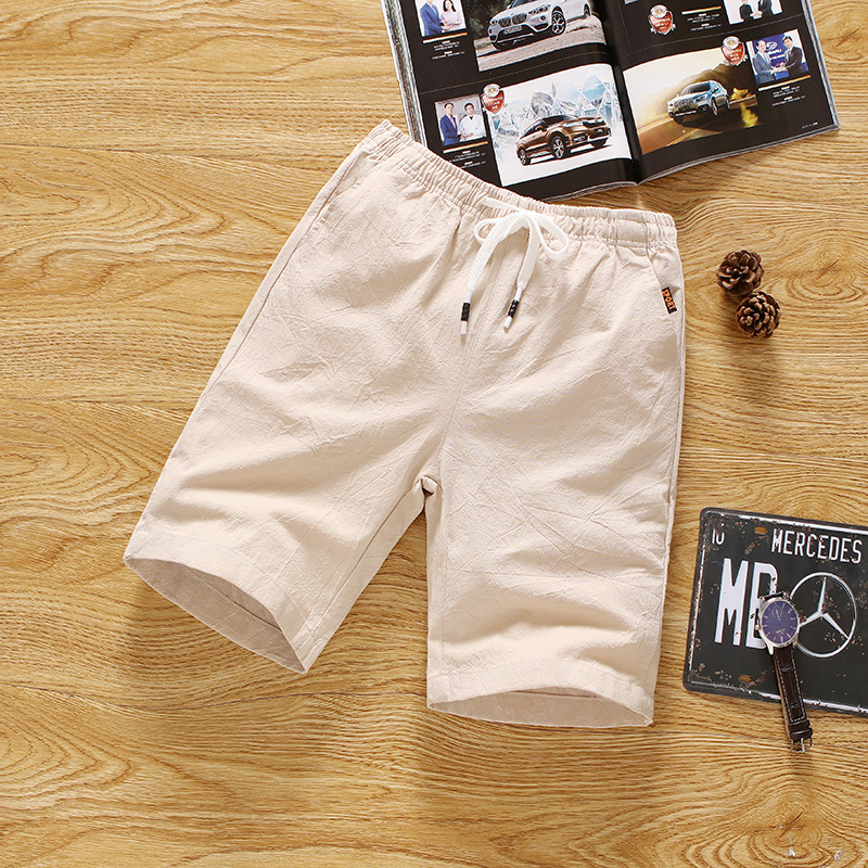 Cotton Shorts, Men's Flax, Big...