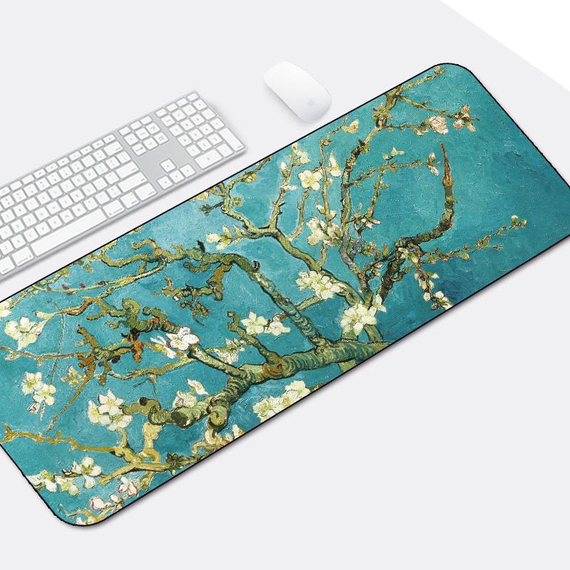 游戏超大鼠标垫锁边中国风加厚可爱兰亭序励志笔记本电脑办公桌垫_天猫超市优惠券