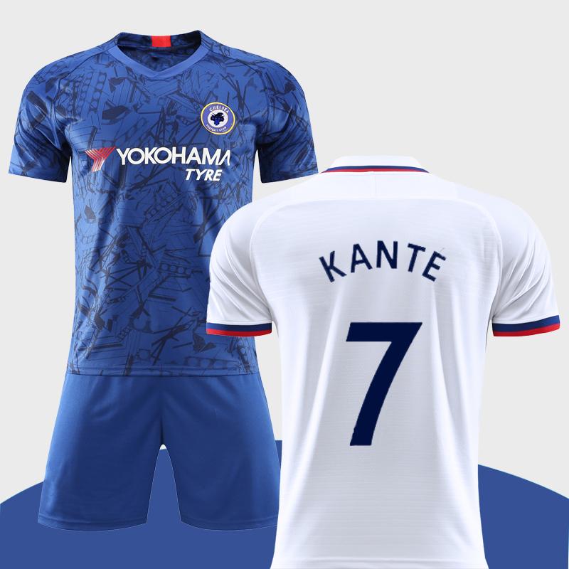 切尔西队服2019-20主客场球衣服足球男7号坎特套装有儿童有长袖