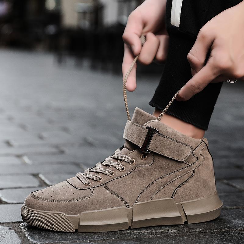 aj男鞋冬季加绒保暖棉鞋加厚高帮鞋男士休闲鞋高邦雪地靴男防滑靴