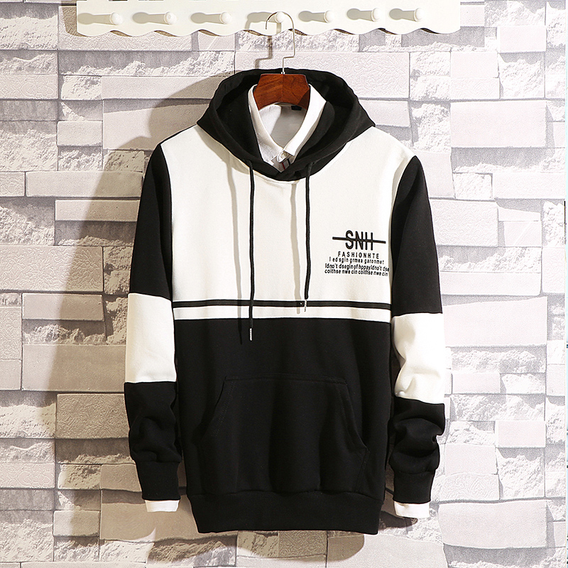 Men's hooded hooded Korean version of the trend Hong Kong wind ins spring and autumn long-sleeved loose-fitting young student men's jacket 51 Online shopping Bangladesh