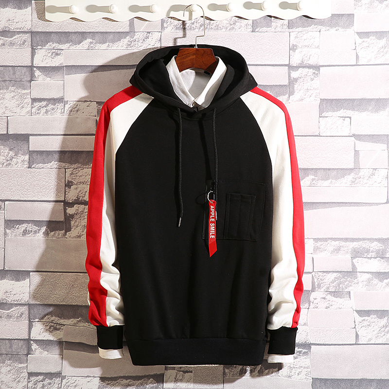 Men's hooded hooded Korean version of the trend Hong Kong wind ins spring and autumn long-sleeved loose-fitting young student men's jacket 53 Online shopping Bangladesh