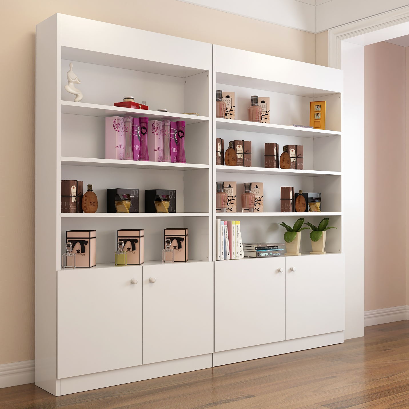 Cosmetic Display Cabinets Beauty Salon Barber Products Boutique Shelf