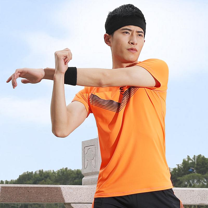 路伊梵速干训练t恤男衣服上衣篮球健身短袖健身房跑步运动服夏季
