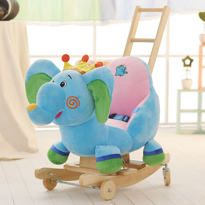 Sensational Usd 163 95 Blue Fish Blue Crown Elephant Rocking Horse With Gmtry Best Dining Table And Chair Ideas Images Gmtryco