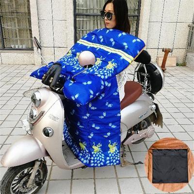 电动车挡风被冬季加绒加厚加大防水电瓶踏板摩托挡风罩电车保暖