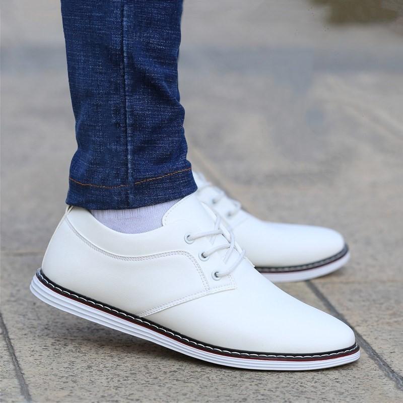 皮鞋男商务正装潮牌真夏季新款韩版潮流运动休闲白色透气名牌0722