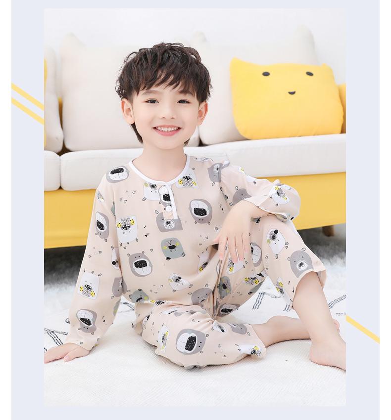 【20款统一价】2件套夏季儿童棉绸睡衣
