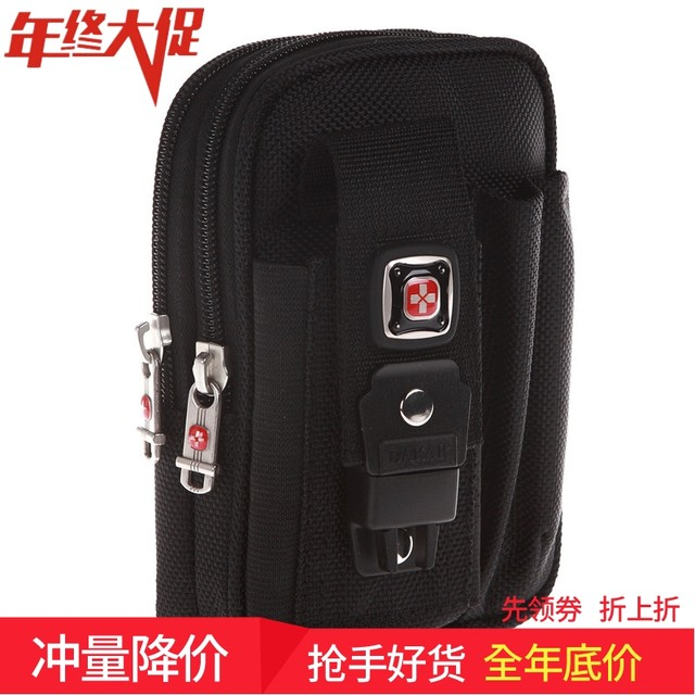 Swiss Army Knife sports mobile phone bag 6 inch 5.5 inch multifunctional wear belt mobile phone pocket men's running small bag