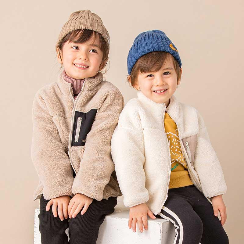 petitmain童装男女童外套2020秋冬羊羔绒儿童宝宝时尚纯色外套