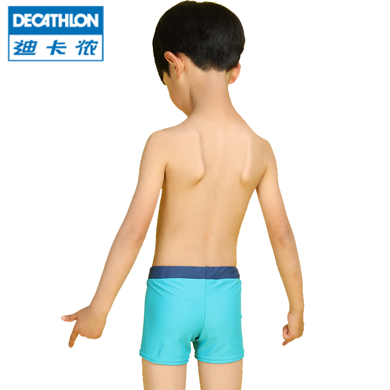 657aacddba Decathlon children's swimming trunks boy boy boxer anti-chlorine swimming  shorts comfortable fashion cute NAB
