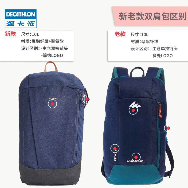 cf7e447da9 ... Decathlon flagship store backpack new men s bag travel mini sports  small backpack lightweight handbag QUBP