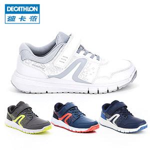 迪卡侬 童鞋秋季防泼水防滑板鞋小白鞋女男童儿童运动鞋保暖FEEL