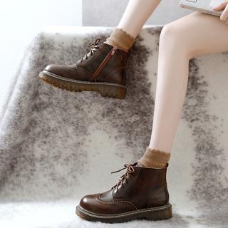 Ботинки, полусапожки,  2018 новый ins мартин сапоги женщина британская мода студент корейский дикий ботинки высокий кожаная обувь осень и зима обувь женщина, цена 2049 руб