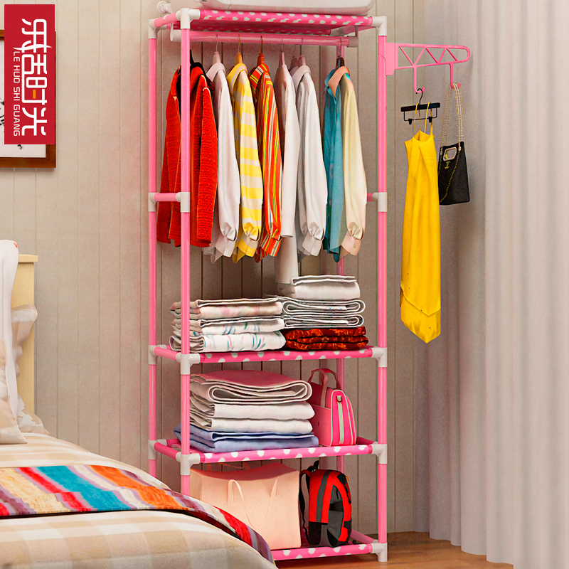 Simple Coat Rack Floor Hangers Creative Clothes Rack Bedroom Shelf Hallway  Storage Racks Can Be Moved