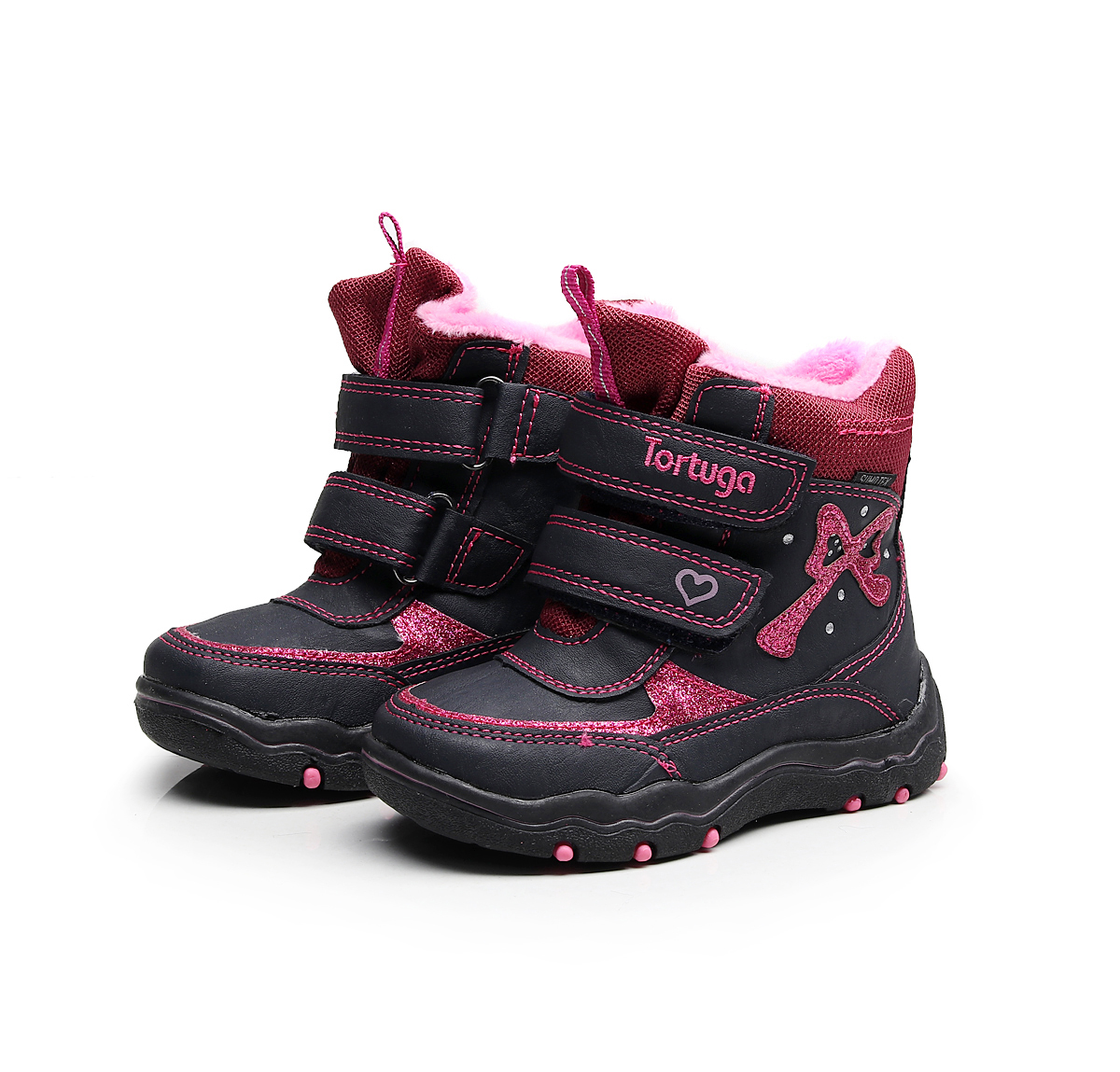 Girls winter hiking shoes kids waterproof slip-resistant snow shoes plush-padded walking shoes baby girls cotton shoes for-25C