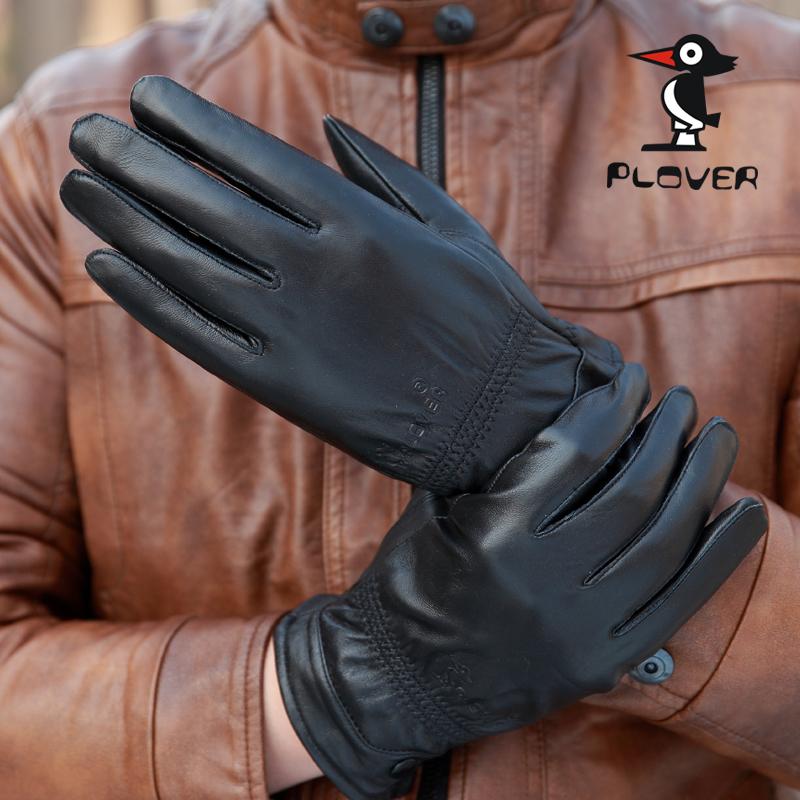 啄木鸟真皮手套冬季保暖羊皮手套