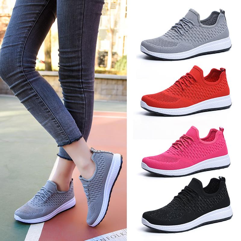 老北京单鞋女士时尚春季韩版青年软底鞋飞织布鞋鞋子v单鞋妈妈系带