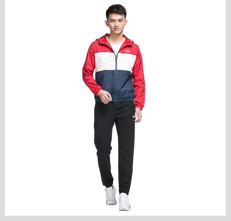 特步 专柜同款 男子春季夹克 潮流百搭双层夹克外套983129120743-