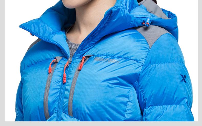 特步 专柜同款 2016冬季新款爆款 长款连帽防风运动休闲羽绒服外套984428190472-