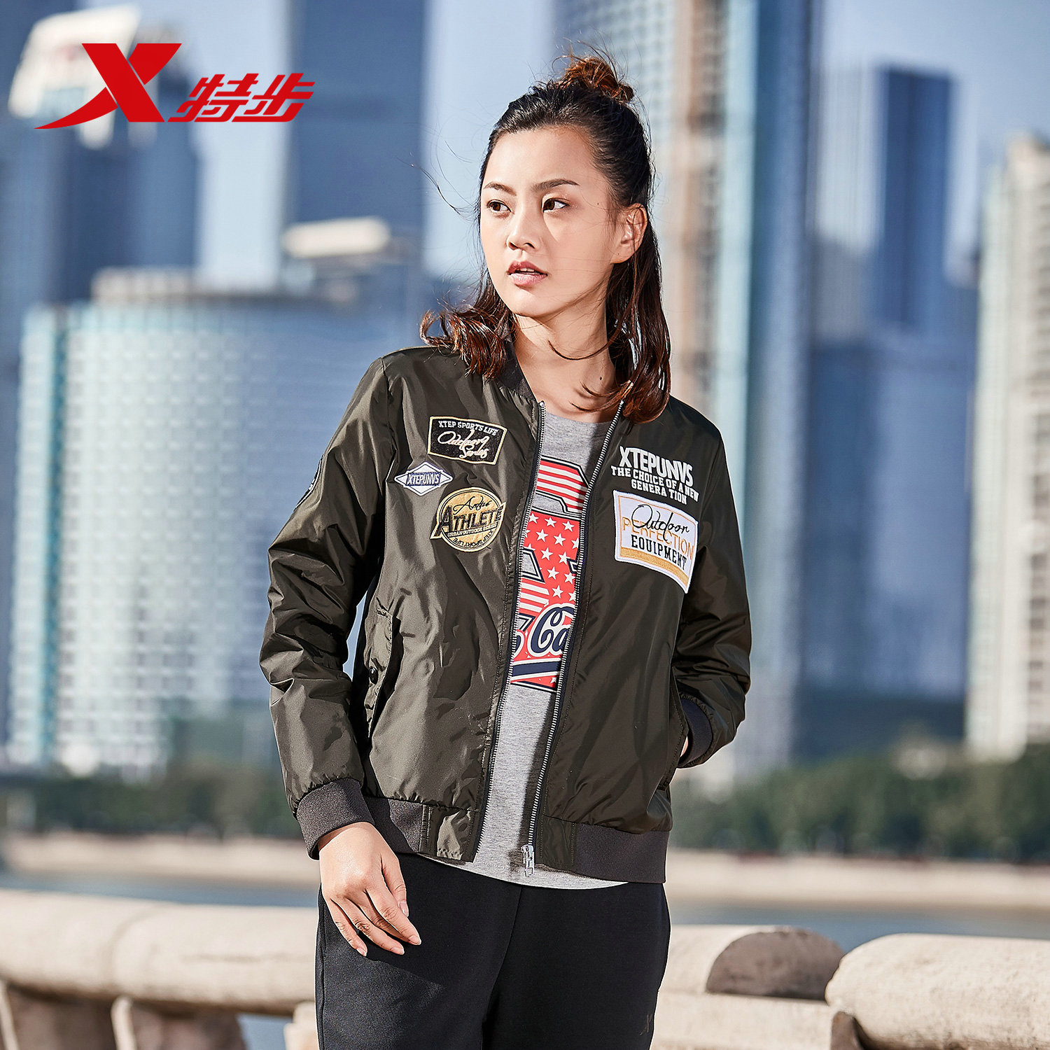 1c91379e0 Xtep jacket women's jacket spring and autumn new women's double ...