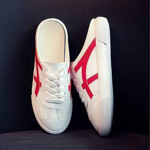 網紅拖鞋女鞋外穿涼拖2019夏季新款時尚百搭懶人小白包頭半拖單鞋