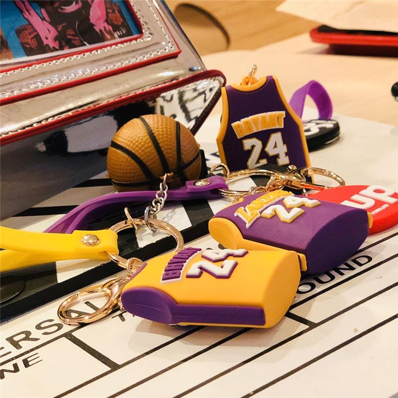 科比钥匙扣篮球挂件小饰品个性创意书包挂饰男女款情侣一对钥匙炼详细照片