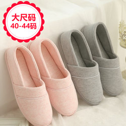 New spring, summer and autumn pure cotton maternity shoes plus size postpartum maternity confinement shoes non-slip soft-soled heel home shoes