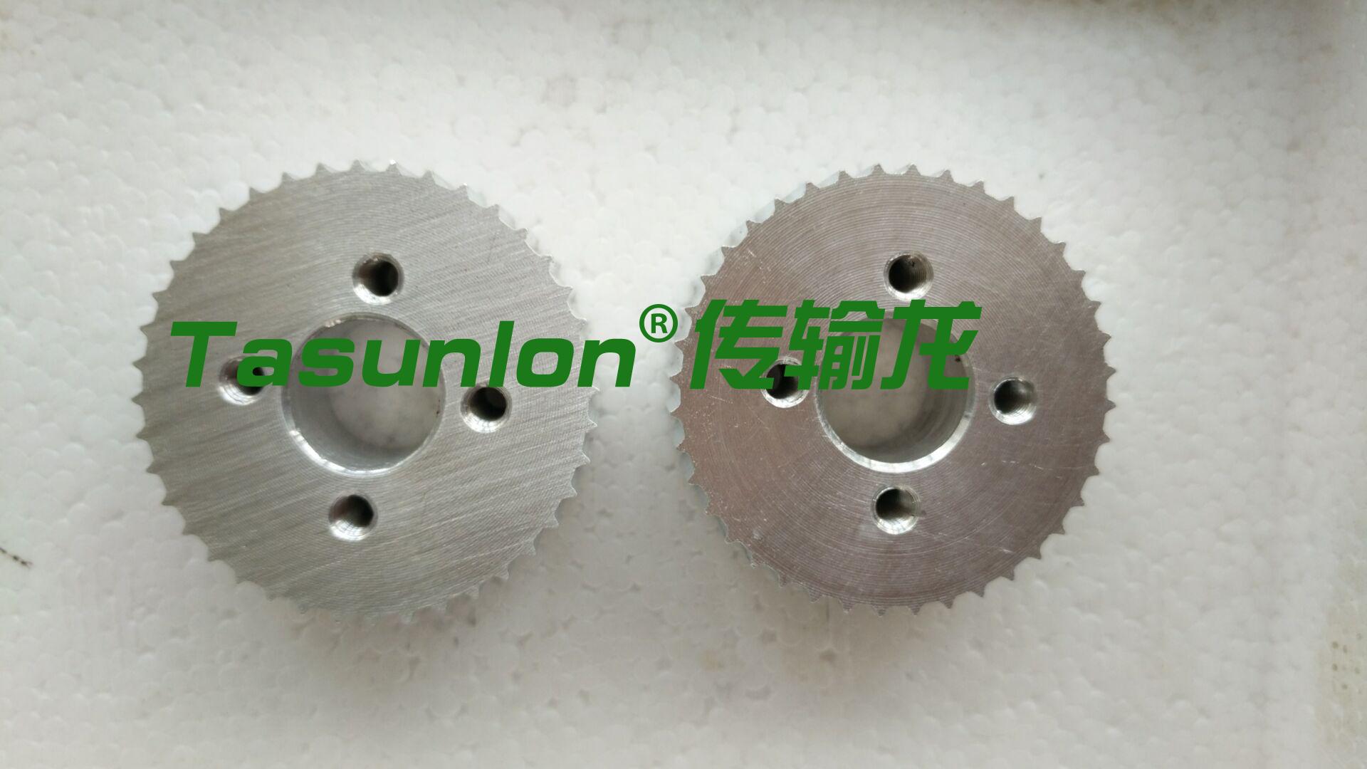 订做铝合金同步轮5M-65齿按图加工同步带
