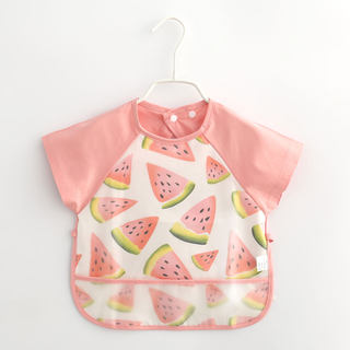 Summer baby eating clothes thin model children waterproof anti-dressing baby anti-dirty bib girl cotton apron