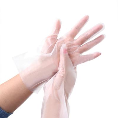 TPE加厚食品级一次性手套餐饮防水防油防护100只美容美发PVC手套