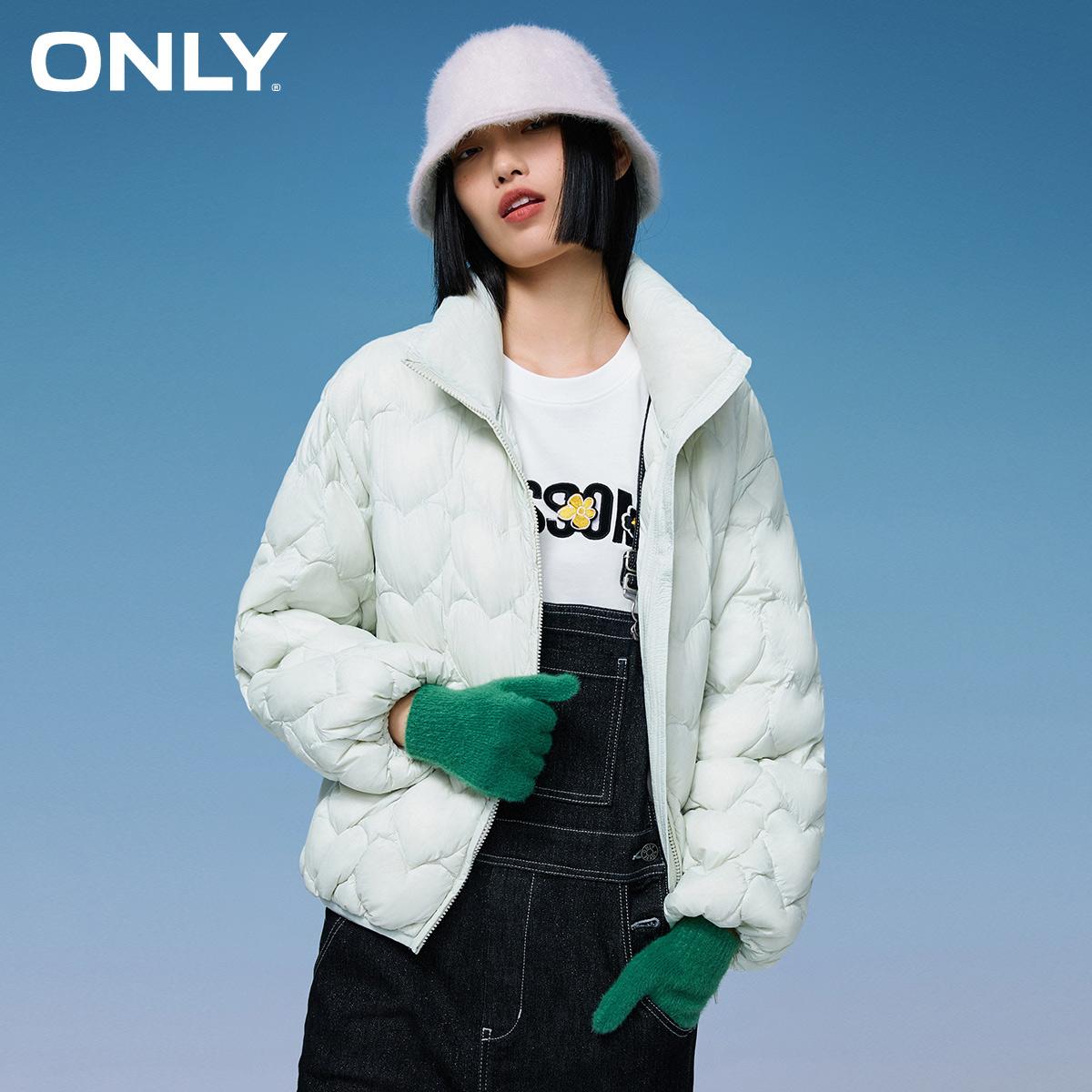 【双11预售】ONLY2021冬新款轻薄短款棉花糖羽绒服女|121423020