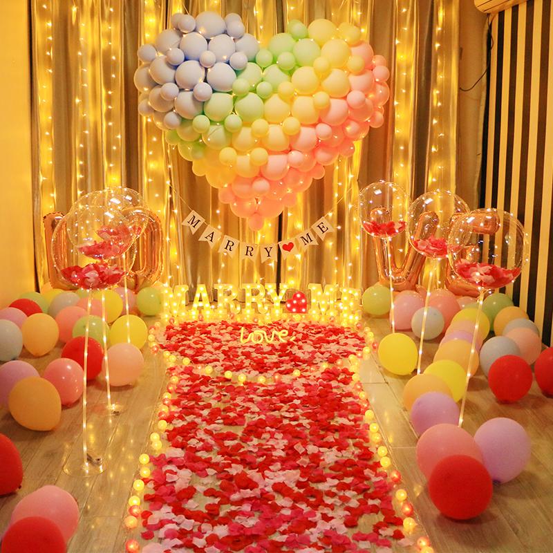 Birthday confession proposal scene set creative supplies romantic confession surprise decoration props seven-night Valentine's Day