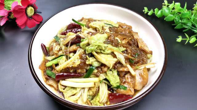 最下饭的猪肉白菜炒粉条,好吃又美味