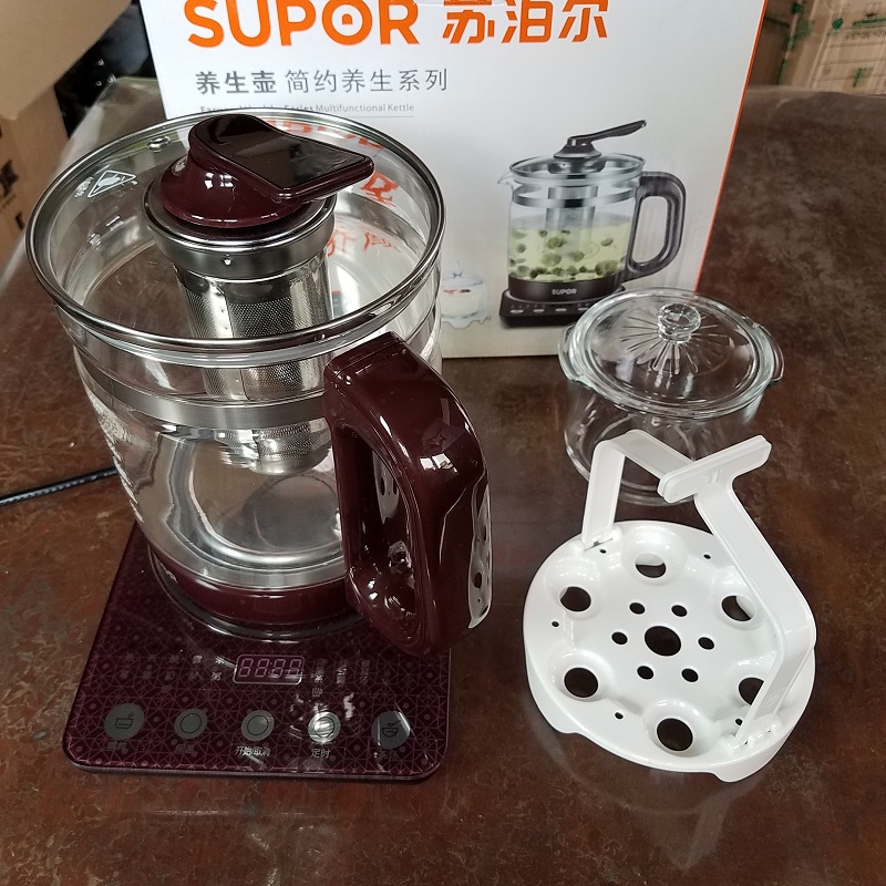 supor/Supor swf15s30a Health pot full automatic thickening glass tea pot flower teapot