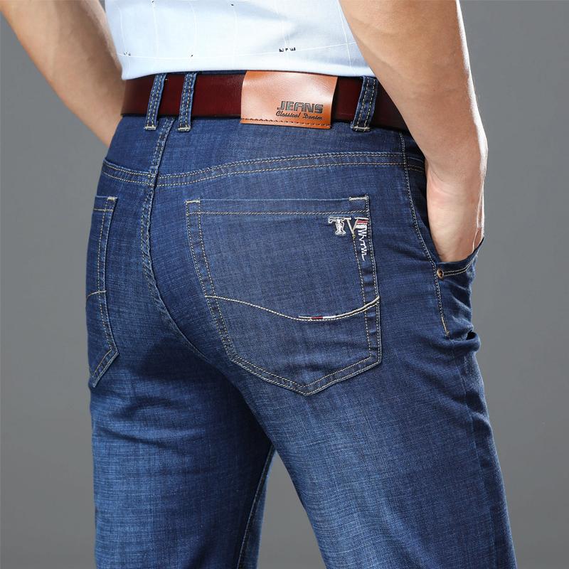 五折促销春夏秋冬新款牛仔裤男士宽松直筒商务休闲修身男裤中老年长裤弹力