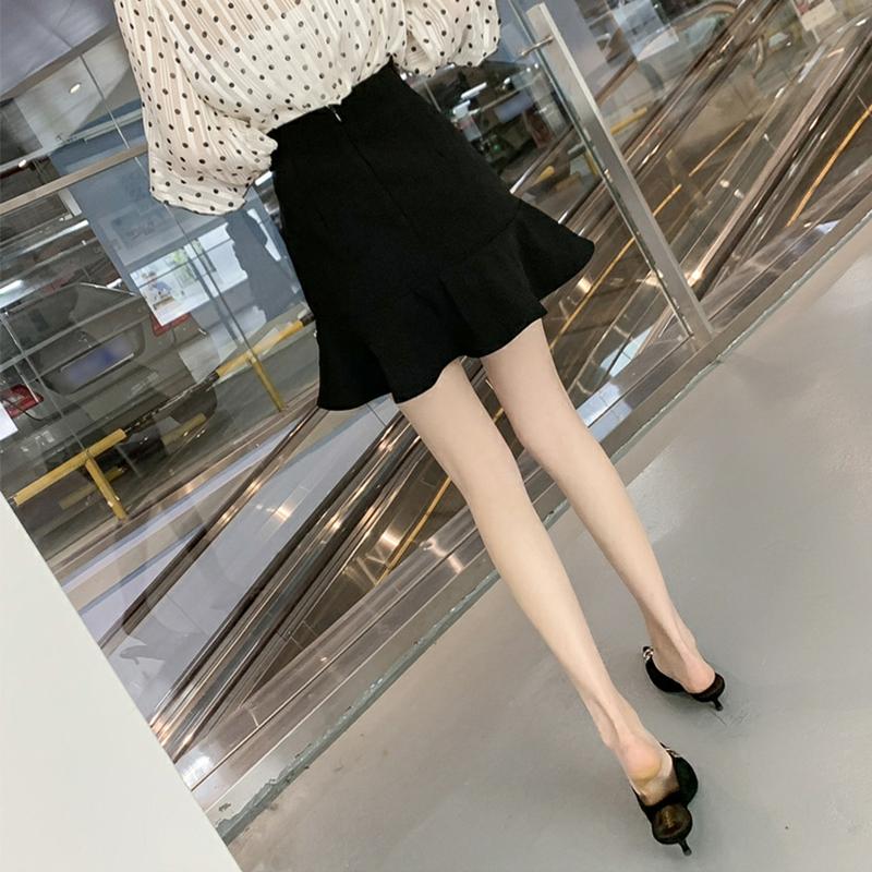 Autumn irregular lotus leaf fishtail skirt women's skirt 2019 korean style high waist hips show thin a-word short skirt
