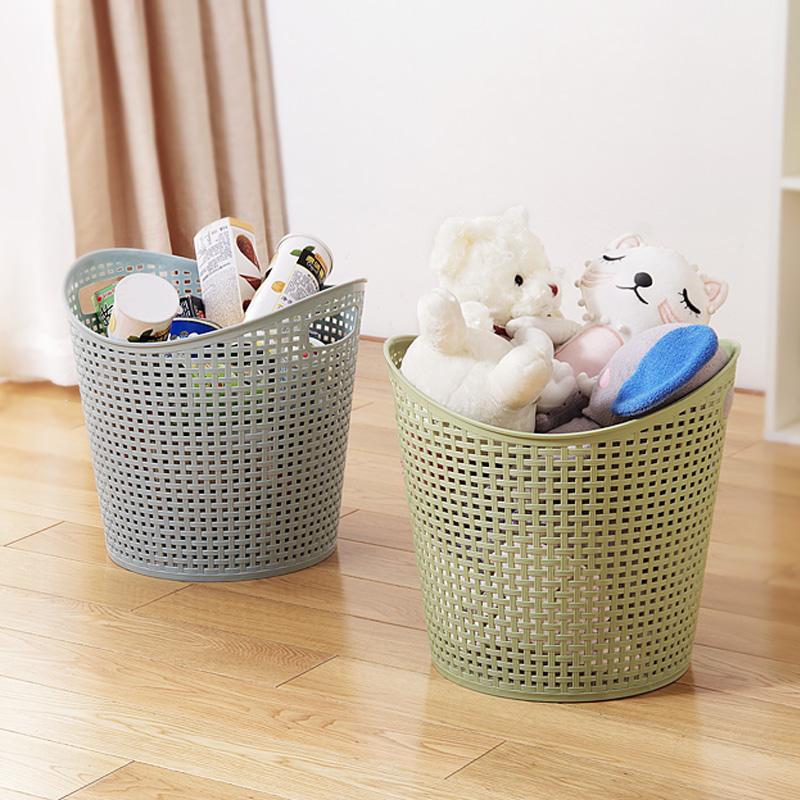 . Large plastic dirty clothes basket basket bathroom laundry basket household  toys clothing storage basket dirty clothes storage basket