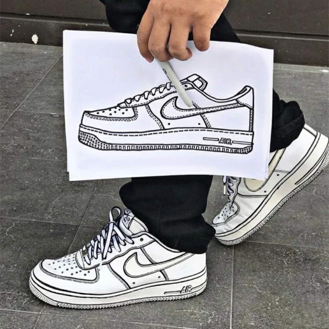 more photos 6e73b 9e27c (skins)custom shoes custom ins two dimensional cartoon AF1 AJ1diy custom  tools graffiti