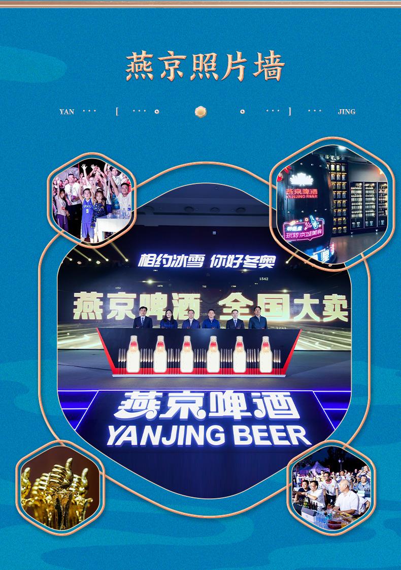 燕京啤酒 10度冬奥联名鲜啤 330ml*24听啤 图8