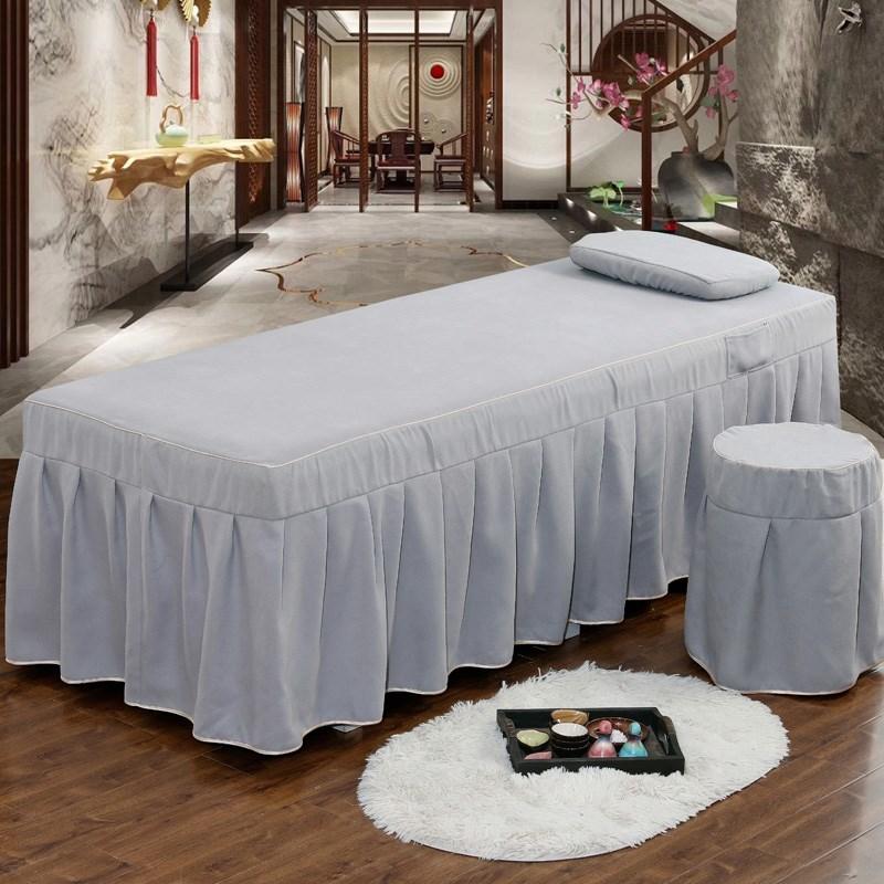 Làm đẹp giường bốn mảnh đơn giản làm đẹp thẩm mỹ bộ đồ giường Châu Âu massage sang trọng cơ thể giường 2019 mới - Trang bị tấm
