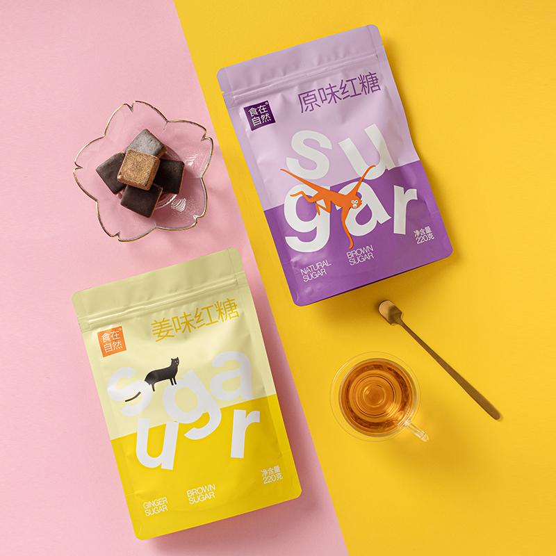 食在自然手工红糖姜茶为220g