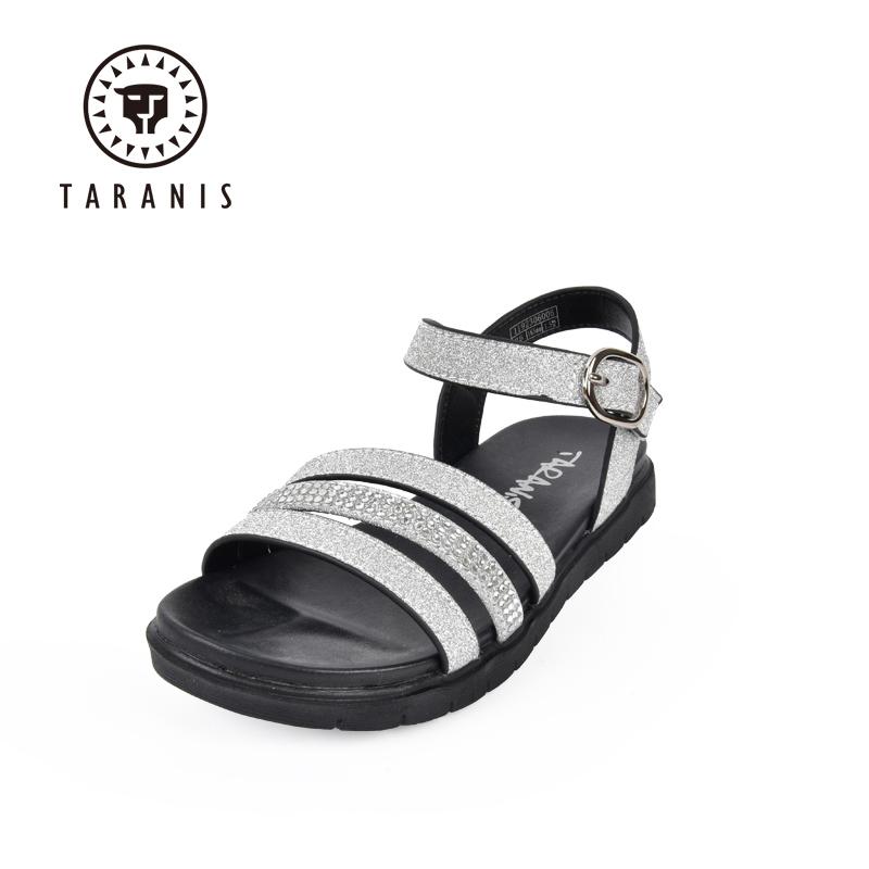 泰兰尼斯凉鞋女童闪亮透气公主鞋鞋子女鞋中大童防滑凉鞋