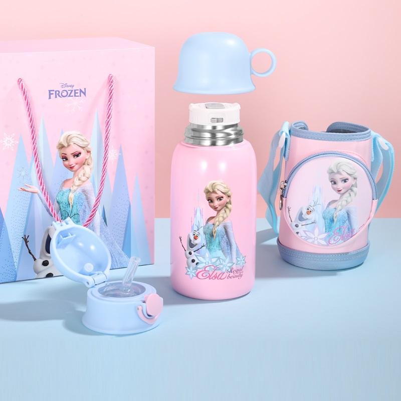 迪士尼冰雪奇缘儿童保温杯小学生艾莎公主水杯女童316食品级水壶