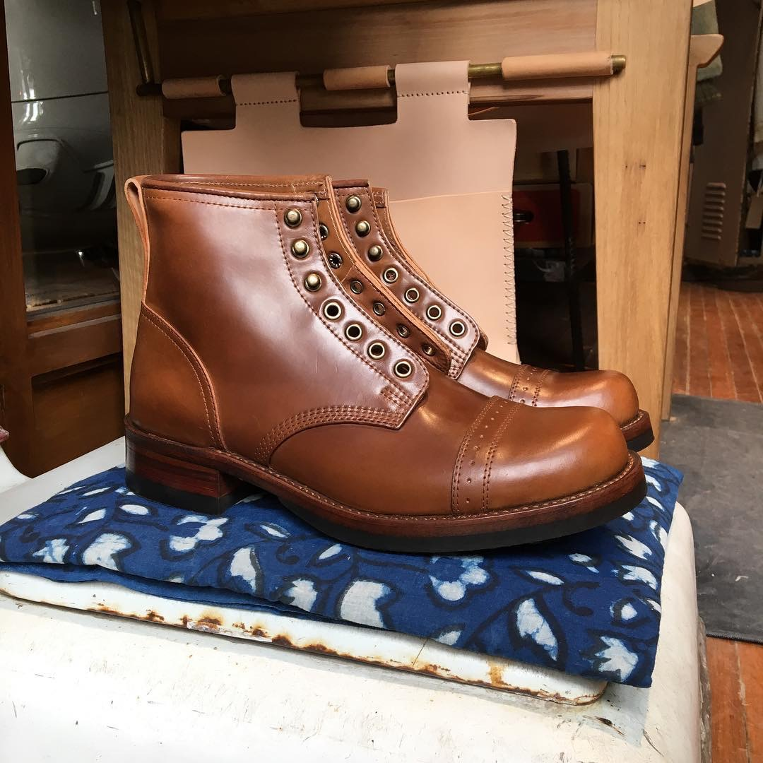 8aa12959a45 Julianboots hand rub Brown RRL classic bowery models advance Limited  Edition 20 pairs