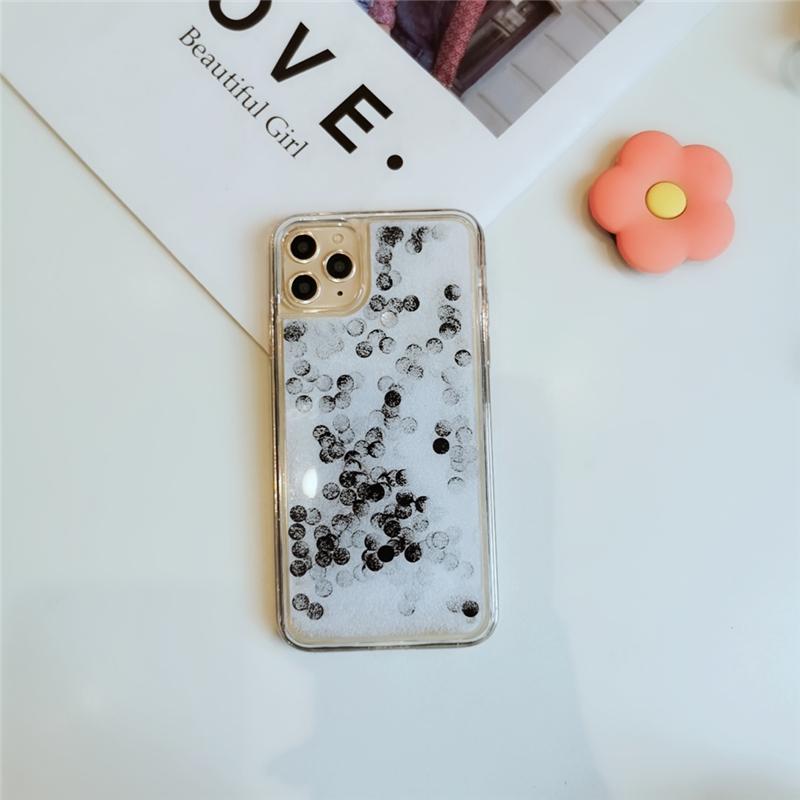 珍珠奶茶流沙殼 情侶殼 iPhone 7/8 4.7吋//plus 5.5吋 珍珠下雪流沙殼 液態殼  防摔 矽膠 軟殼