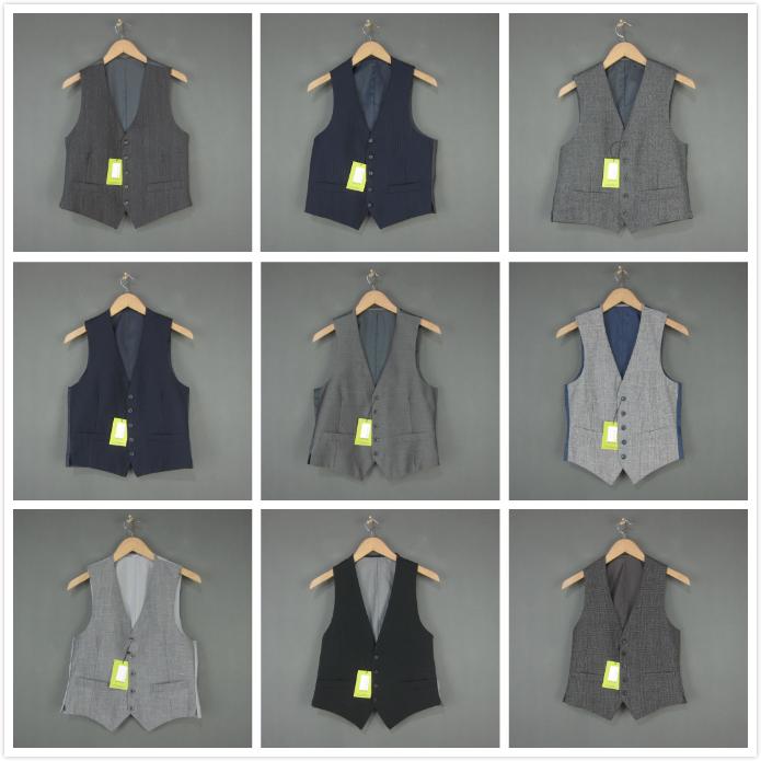 Sản xuất tại Nhật Bản Xu hướng cổ điển Quý ông Kinh doanh chuyên nghiệp Phong cách Anh Len Len pha trộn Vest Vest Quần áo nam - Dệt kim Vest