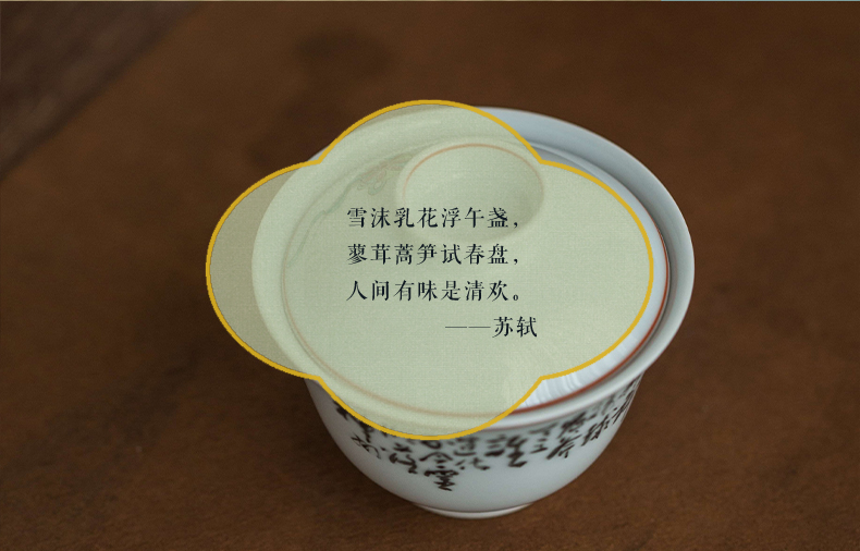 High - end checking hand - made ceramic story town tureen three ancient color little lion tureen tureen single coloured drawing or pattern