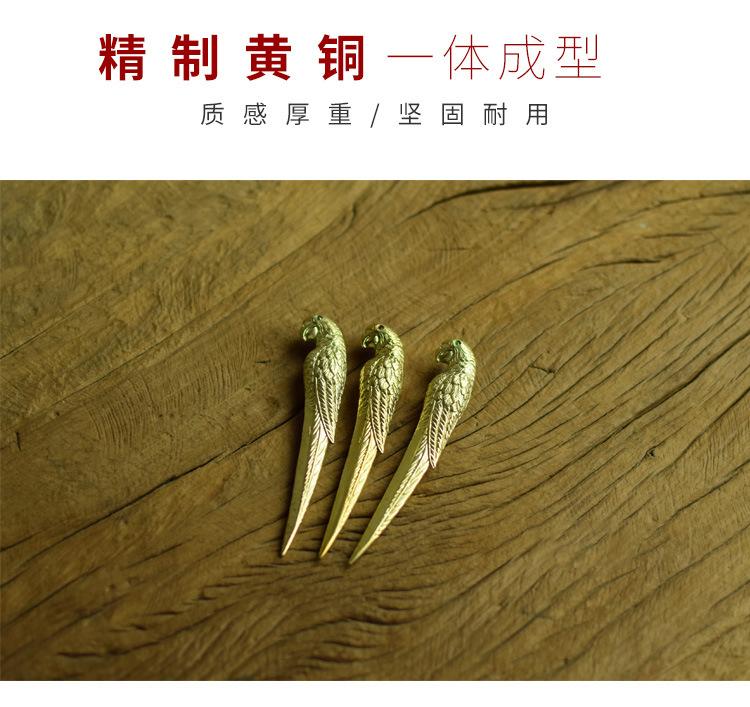 Ceramic story's brass parrot dao pu 'er tea, black tea brick picked tea ChaZhen cone 6 gentleman kung fu tea tea accessories